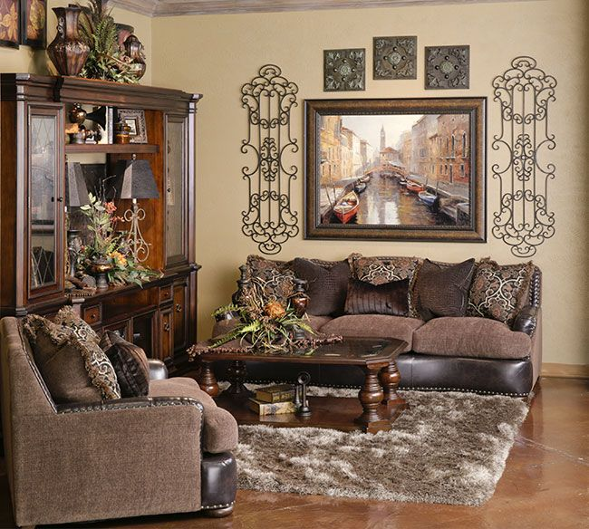 Old World Living Room Furniture: Tuscan/Mediterranean/Old World