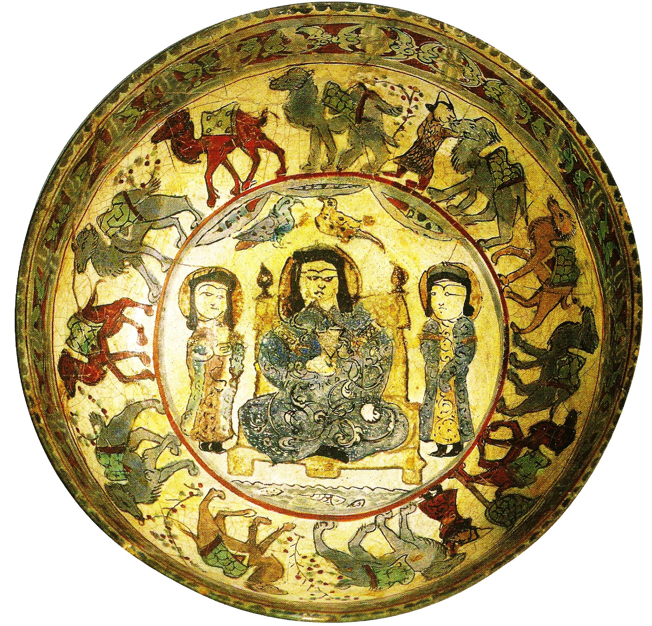 Decorative Plate With Silk Road Caravan Pictures