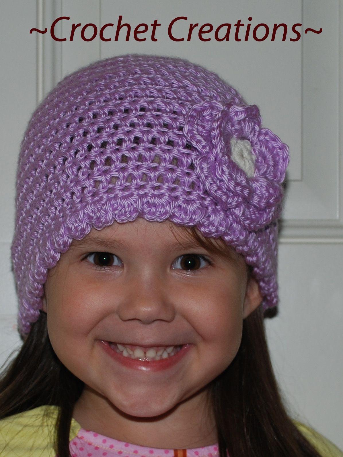 Crochet Children\'s Hat with Flower | Crochet for Kids | Pinterest ...
