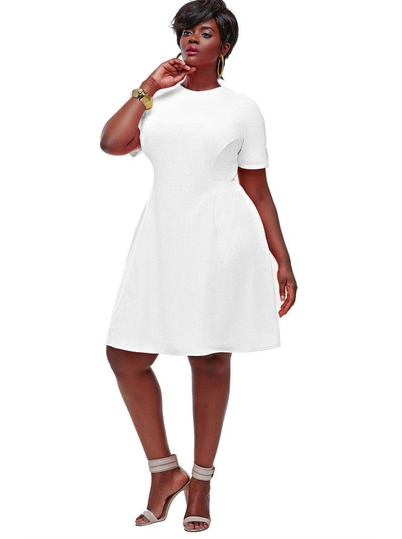 b2c5f19ab7c Monif C Plus Sizes- Janel Colorblock Tennis Plus Size Dress