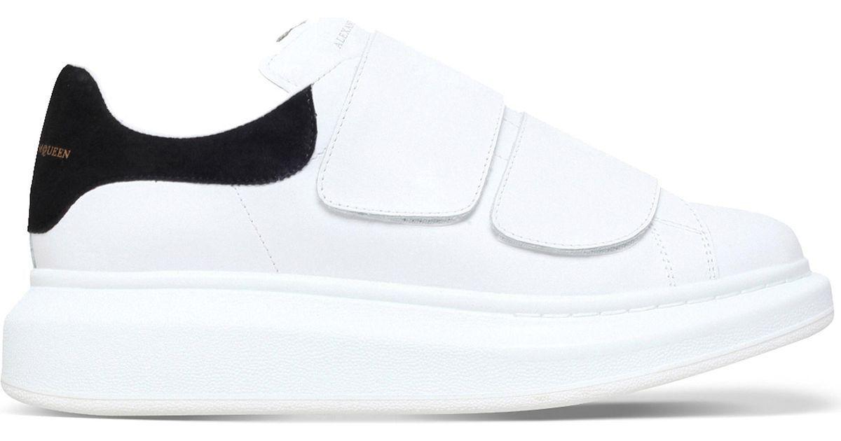 Alexander McQueen White Runway Leather