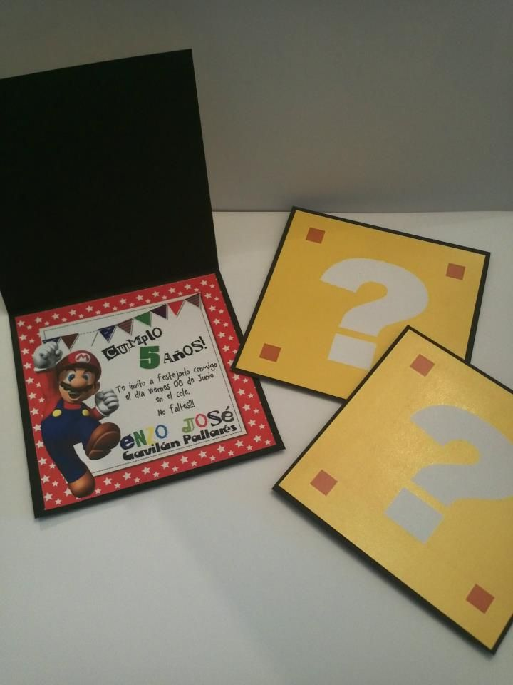 Invitaciones cumple - Mario Bros   Invitaciones ...