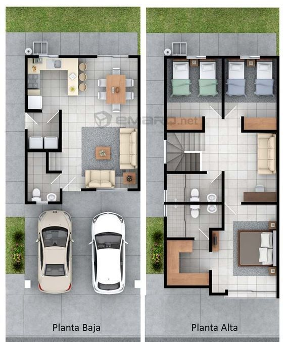 Plano de casa en  render floor plans pinterest house and also rh