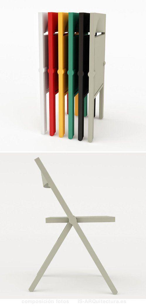 1Oficina Silla Polipropileno Design Plegable Furniture FK1cl3uTJ