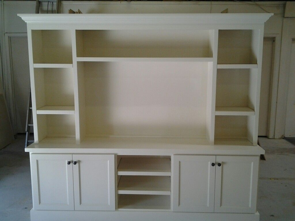 Charming White Wood Entertainment Center Part - 2: Another White Entertainment Center