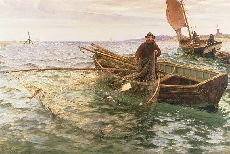 The Fisherman 1888 Charles Napier Marine Painting Marine Art
