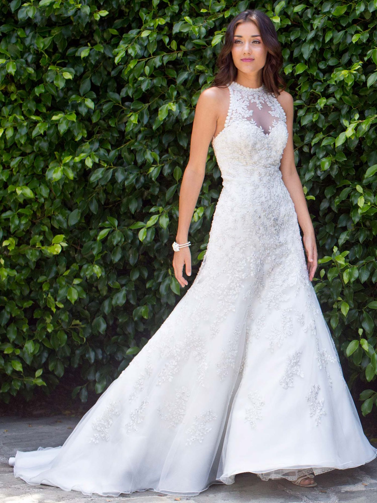 White and silver wedding dresses  Style PL  by Kenneth Winston  Available Colours  IvorySilver