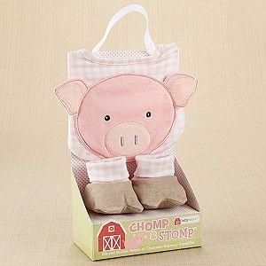 Chomp and Stomp - Pig Bib and Booties