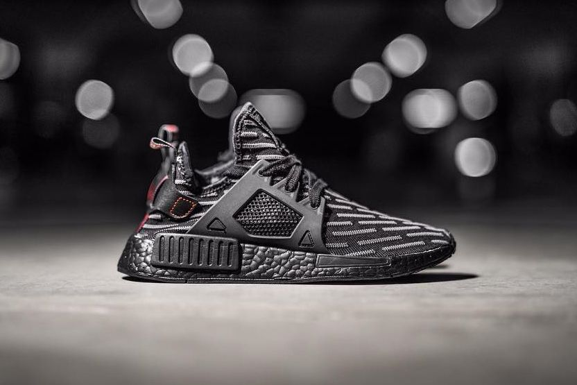 502fc22547257 adidas NMD XR1 Triple Black R2 Pattern