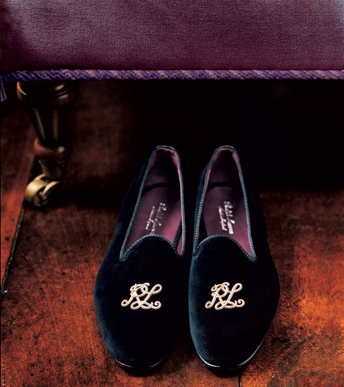 ef2e7e1ff837 Score these classic Velvet Smoking Slippers from Ralph Lauren Purple Label--  a comfy staple for any man s closet