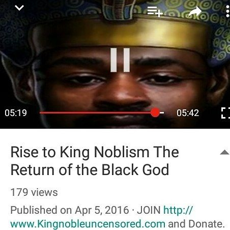 "Did you see ""Rise to King Noblism The Return of the Black God bit.ly/1McLa4G#KingNoble #BlackSupremacy#pharoah #kemet #kush #pharaohs #ankh #ancient #diety #africangods #africangod #wakeup #blackgods #blackunity #kings Join Kingnobleblackrulership.com"