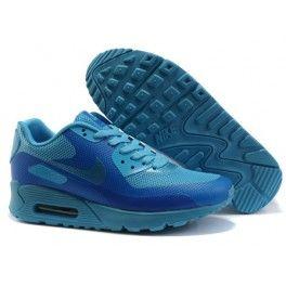 mens nike air max 90 hyperfuse premium blue glow