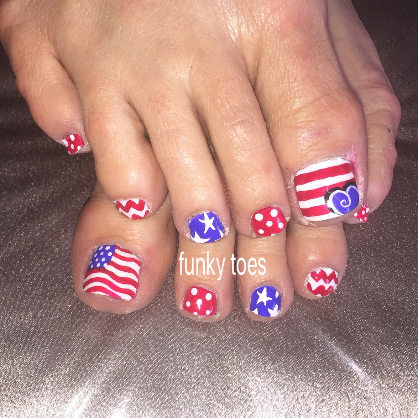Toe Nail Art Holidays: 4th Of July Nail Art