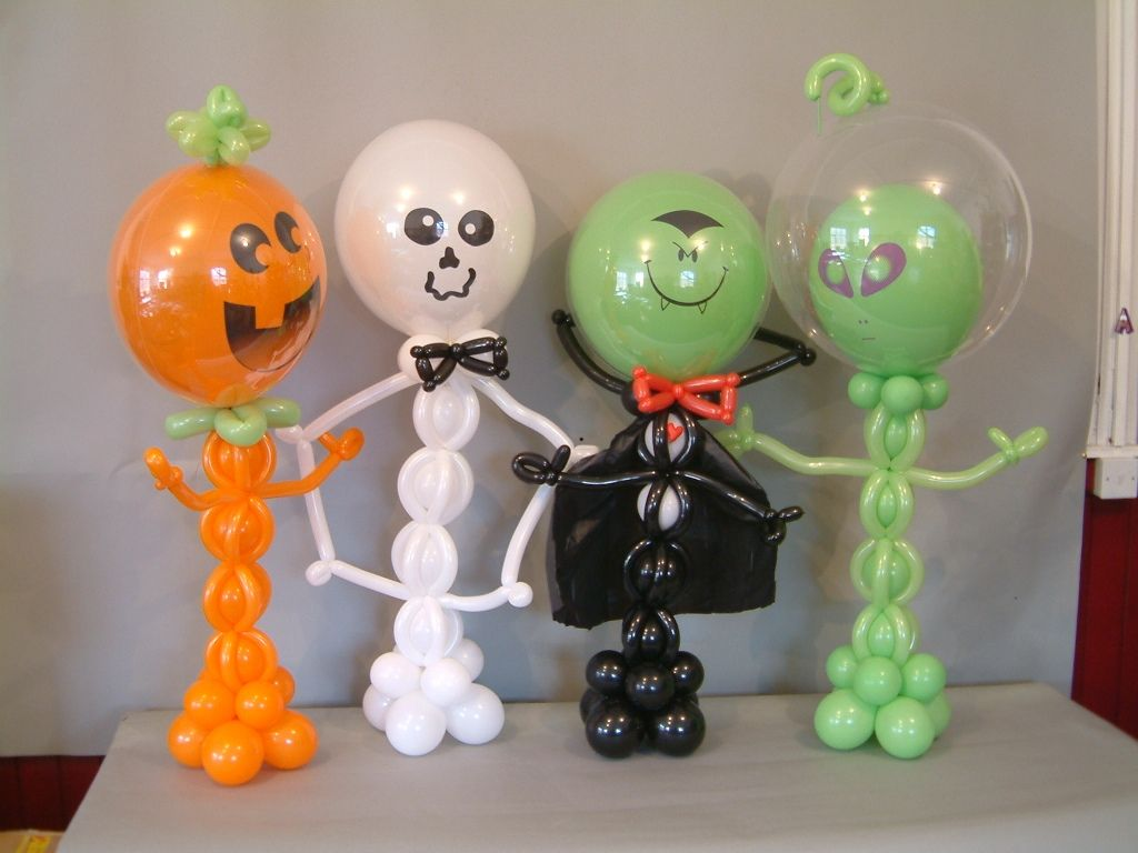 The fab four balloon ideas pinterest halloween for Balloon decoration for halloween