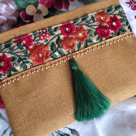 Floral Clutch, Ethnic Clutch Bag, Bohemian Clutch, Ethnic ...