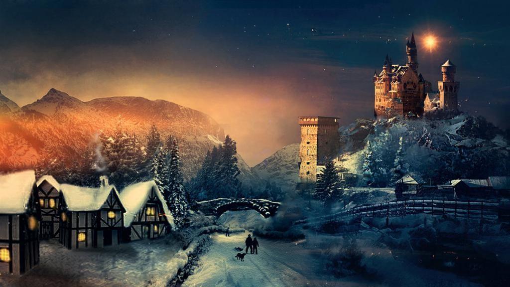 Christmas Wallpaper Background Phone Desktop Hogwarts Christmas