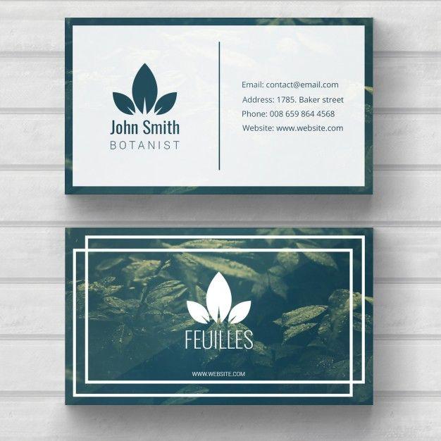 Plantilla de tarjeta de visita de naturaleza Psd Gratis | Tarjetas ...