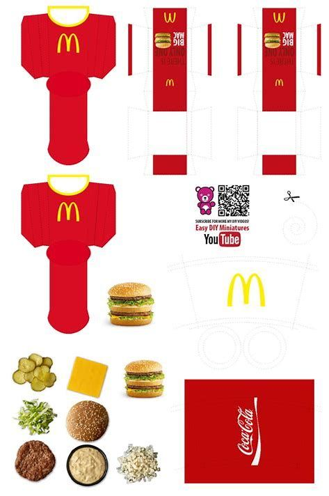 photo relating to Printables Food named Impression outcome for Doll Foodstuff Printables Do-it-yourself Miniature