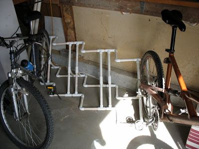 PVC bike rack with measurements/ cut list