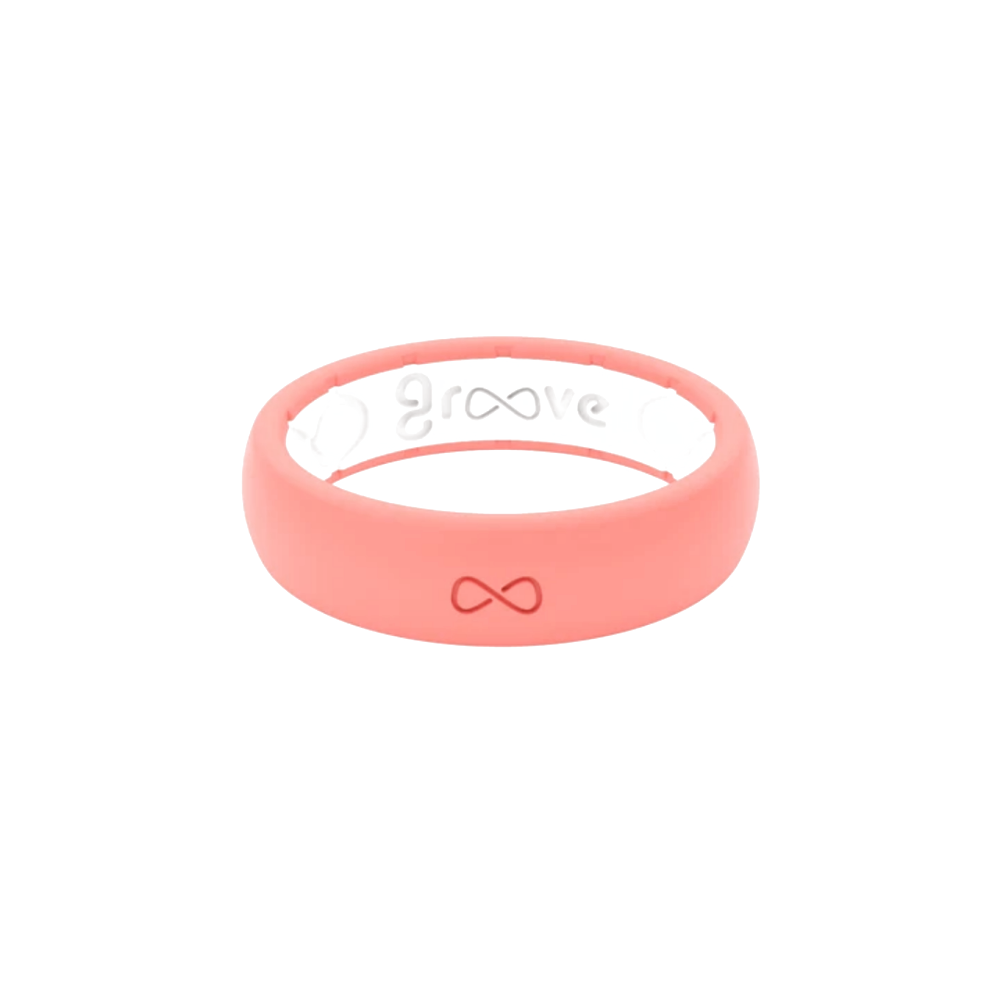 Groove Life Thin Solid Coral Silicone Ring | The Jewelry Center  #siliconering #groovelife #siliconeweddingring #siliconeweddingband #weddingband #weddingringalternative #weddingring #silicone #alternativeweddingring