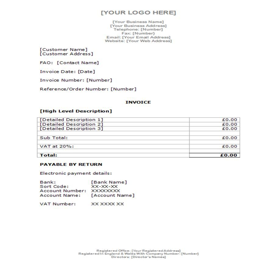 Example Invoice  Document Templates  Examples