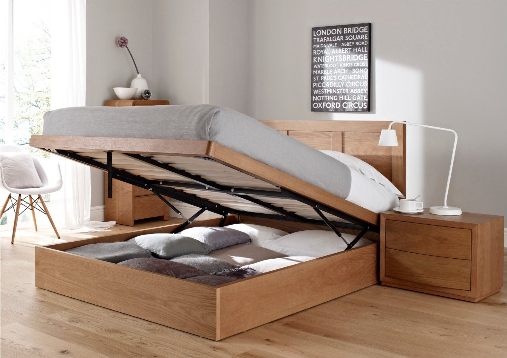 Oakland Ottoman Storage Bed, smart thinking to hide all the extra ...