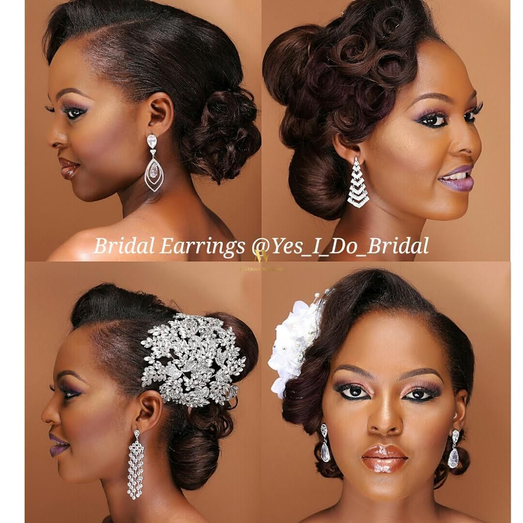 16 Gorgeous Wedding Hairstyles For Nigerian Brides By Hair: Nigerian Wedding Bride Hairstyle