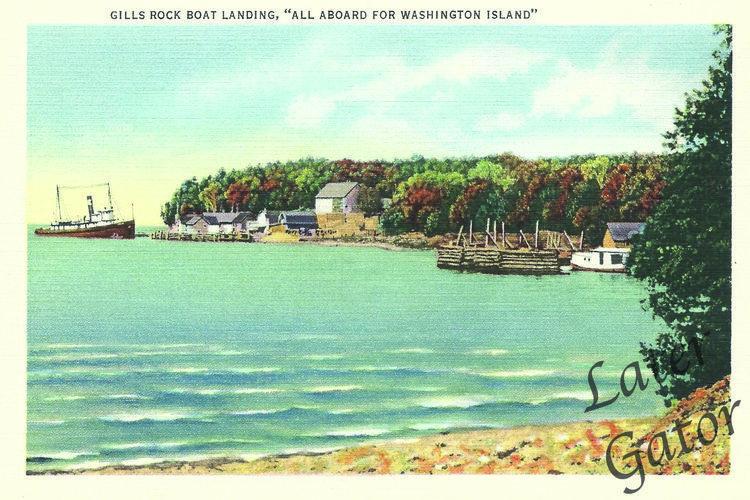 Gills Rock Later Gator Door County Wisconsin Door County Postcard