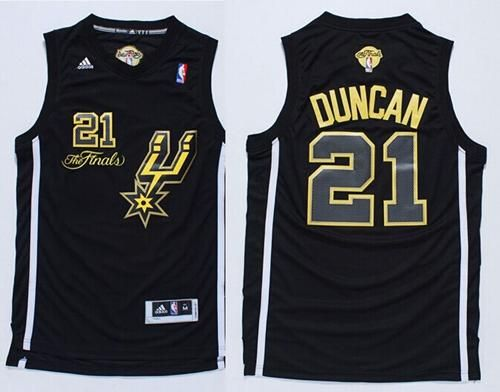 Spurs  21 Tim Duncan Black(Gold No.) Champions Stitched NBA Jersey ... a8aa5c4b2