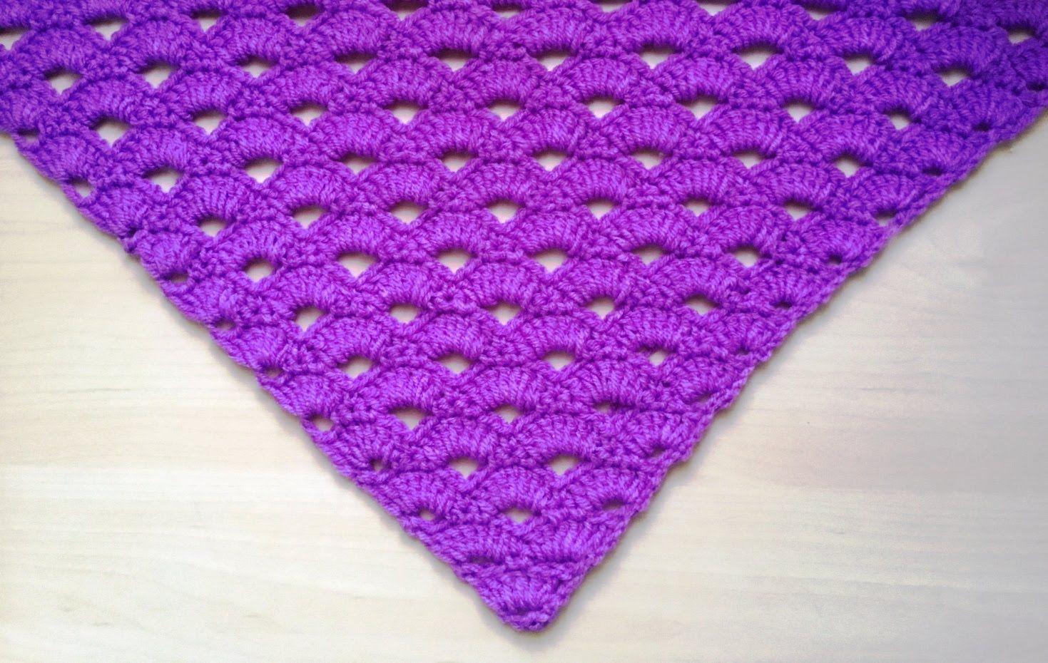 Hermoso chal tejido a crochet muy facil de tejer !!!   Chales ...