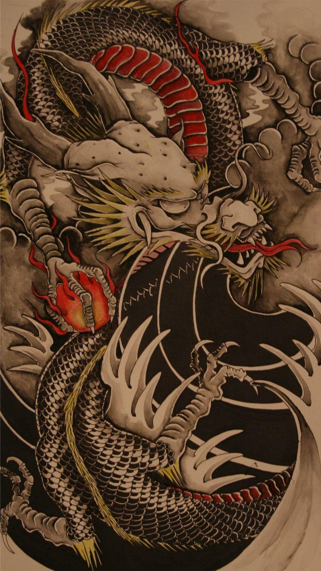 1080x1920 Chinese Dragon Wallpaper Dragon Tattoo Art Dragon Illustration Japanese Dragon Tattoos