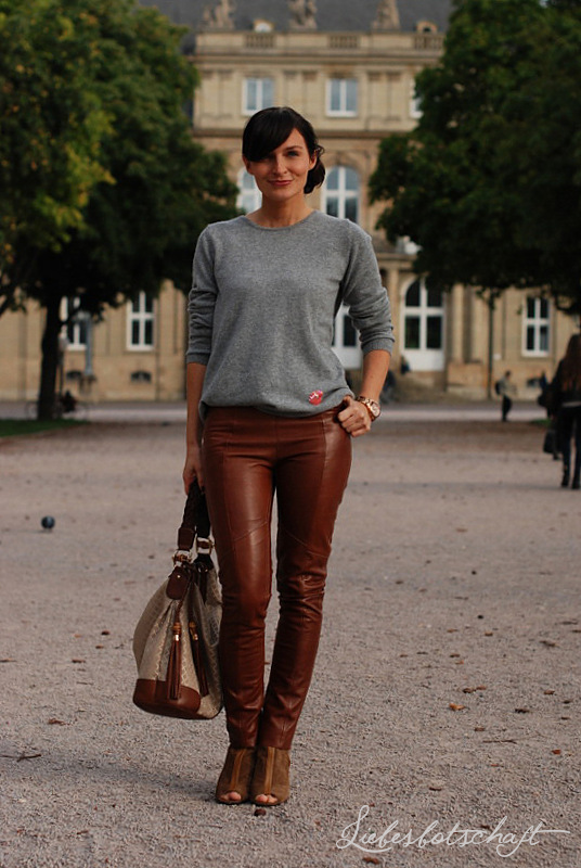 tan leather pants   Things to Wear   Leather Pants, Leather und ... 701397dac0