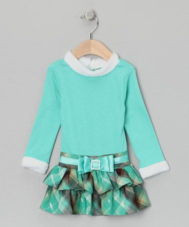 Take a look at this Green & Brown Plaid Dress - Toddler & Girls by Dress du Jour Collection on #zulily today!