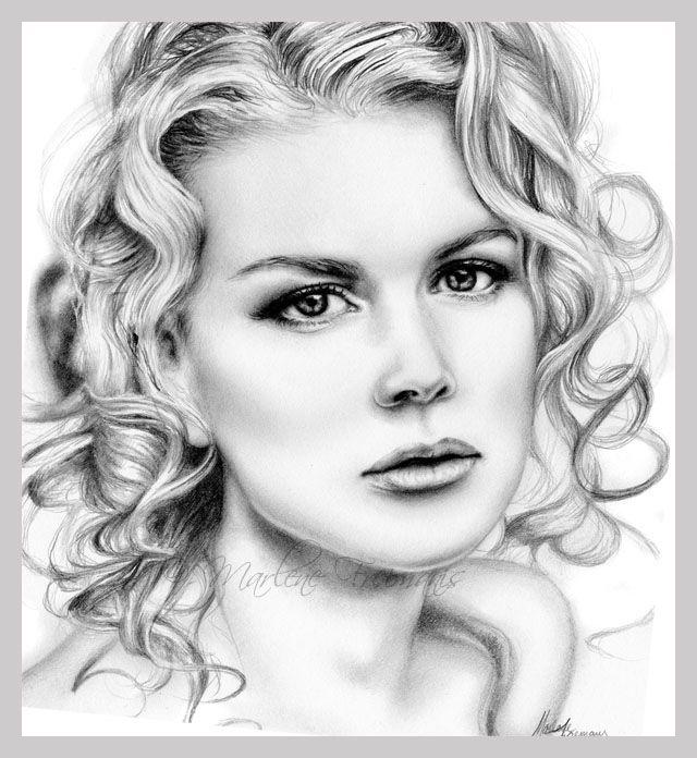 Nicole Kidman - Drawing by Artist thegirlin the box http://fav.me/d543f5