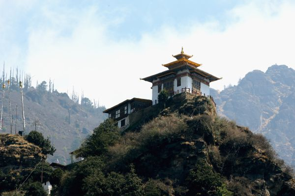 A general view of a building near Tiger's Nest on the 15th April 2016 in Thimphu, Bhutan.(Photo by Chris Jackson/Getty Images)                                     via @AOL_Lifestyle Read more: http://www.aol.com/article/2016/04/15/hiking-chic-duchess-kate-barely-breaks-a-sweat-on-3-hour-hike/21344930/?a_dgi=aolshare_pinterest#slide=3861693|fullscreen