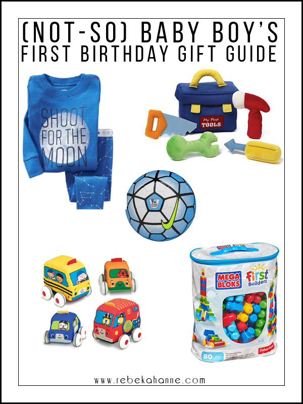 Not So Baby Boys First Birthday Gift Guide