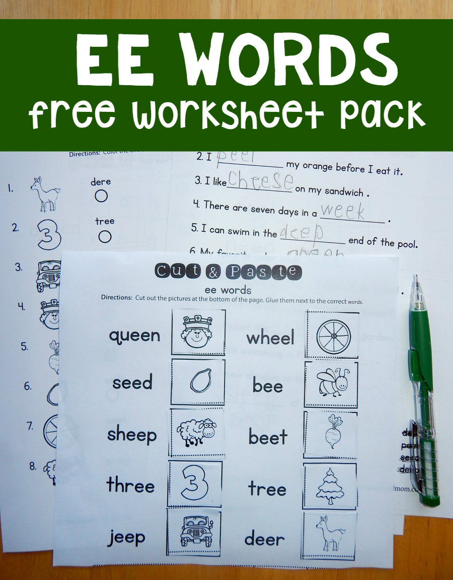 Free ee worksheets | Worksheets, Phonics and Activities