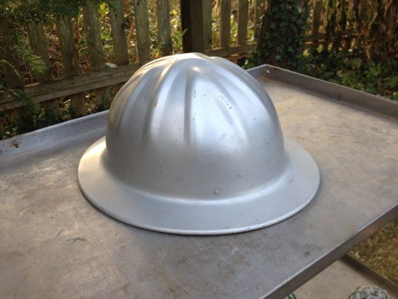 Vintage Aluminum Metal Hard Hat Mcdonald T Hat Standard Mine Safety Appliances Co Helmet Miners Hat Aluminum Metal Hard Hat Aluminum