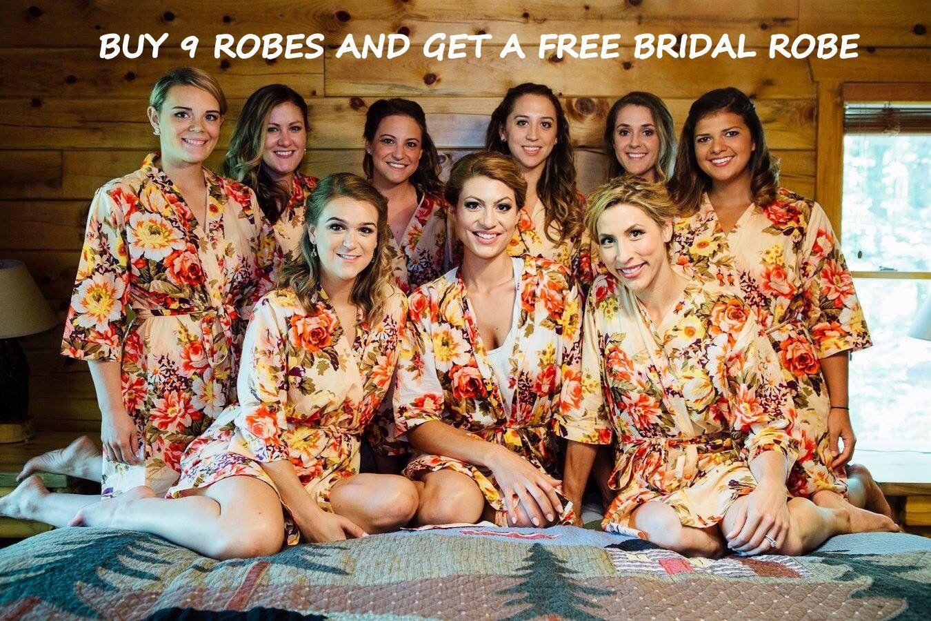 Bridesmaid Robes Set Of 10 Free Bridal Robe Floral Robes Uk Robe Demoiselle D Honneur Coton Bridesmaid Robes Canada Brautjungfer Roben Bridesmaid Robes Cotton Bridesmaid Robes Flower Girl Robes