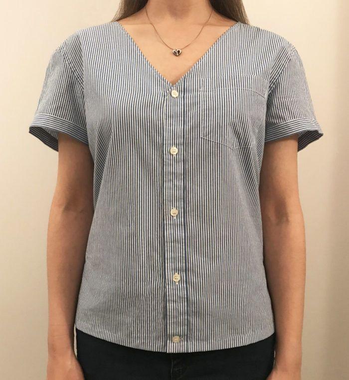 Transformez une chemise boutonnée sur le devant – Fils   – Üst beden