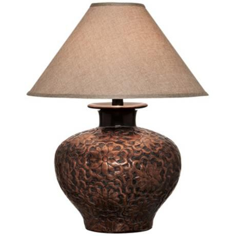 Arbon floral copper table lamp style 5f866 interiors arbon floral copper table lamp mozeypictures Image collections