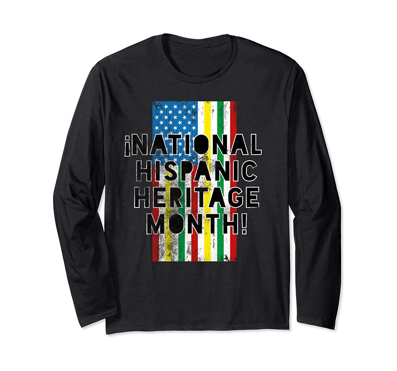 National Hispanic Heritage Month Colors American Flag Long