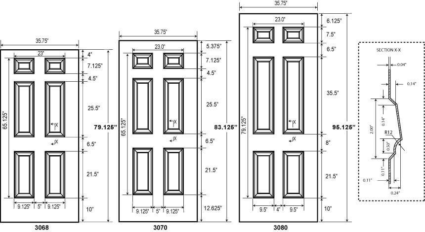 6 Panel Commercial Metal Doors Embossed Steel Doors Metal Doors Exterior Doors Interior Best Interior Design Websites