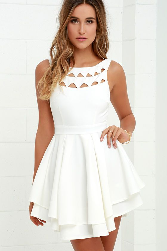 Flirting with Danger Cutout Ivory Dress   Ivory dresses, Ivory and ...