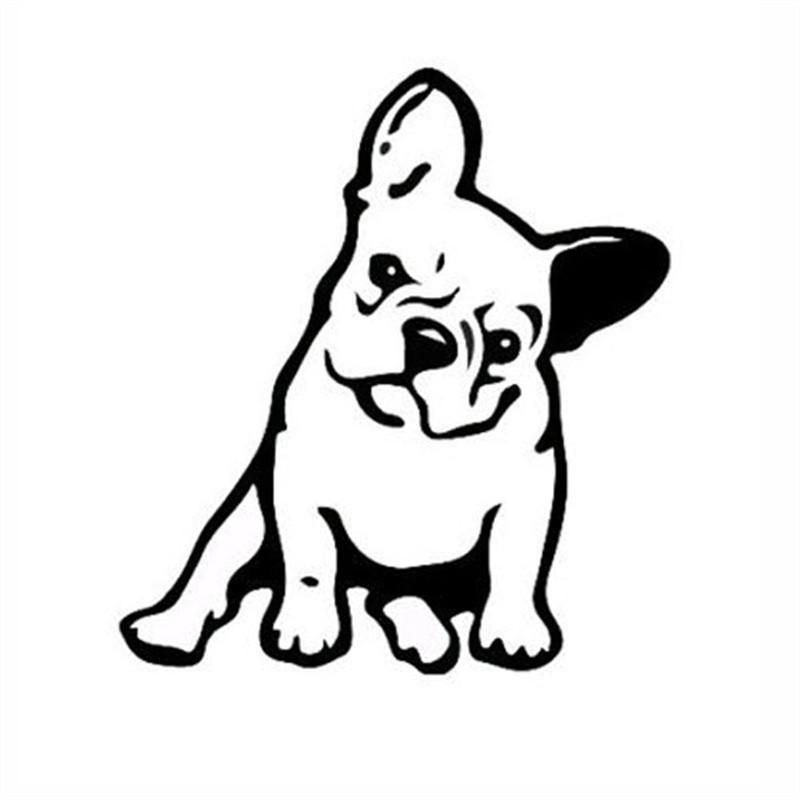 Strong Adhesive Stickers Vinyl Car Decal French Bulldog Dog Car Sticker Decor Black French Bulldog Art Dog Tattoos French Bulldog Tattoo