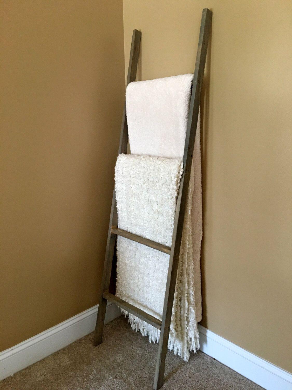 Ladder wooden ladder blanket ladder quilt rack ladder vintage