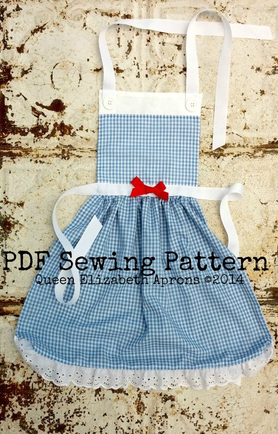 DOROTHY Wizard of OZ Disney inspired Child Costume Apron Pdf ...