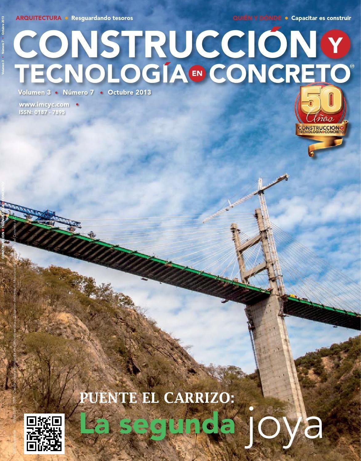 Construcción y Tecnología en Concreto, revista especializada del Instituto…