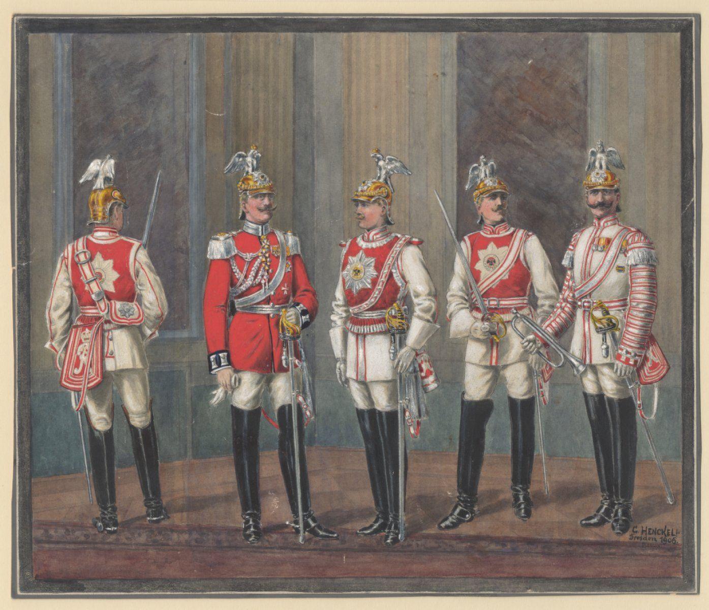 german garde du corps palace and gala dress 1871 1918 german kurassier regiments. Black Bedroom Furniture Sets. Home Design Ideas
