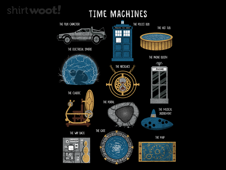 Time Machines Redux 19 00 Free Shipping Time Travel Machine Time Machine Games Hot Tub Time Machine